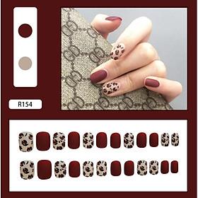 Bộ 24 móng tay giả nail thơi trang như hình (R-154)