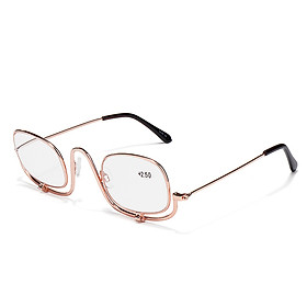 200 Degree Folding Magnifying Make Up Eye Reading Glasses Spectacles Flip Down Lens
