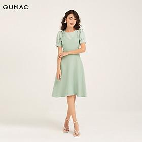 Đầm yếm phối caro GUMAC DB1102