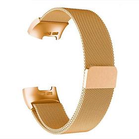 Lưới thép không gỉ Hấp thụ từ tính Dây đeo tay thay thế cho FB Charge 3 / Charge 4
