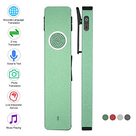 Mini Digital Voice Recorder Translator Real-time Transcription & Translation with Playback for Lectures Meetings
