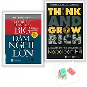 Combo Sách Kỹ Năng Làm Việc - Dám Nghĩ Lớn! (Tái Bản 2016) + 13 Nguyên Tắc Nghĩ Giàu Làm Giàu - Think And Grow Rich (Tái Bản) - (Tặng Kèm Postcard GreenLife AHA)