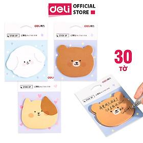 Giấy nhắn học sinh hình thú cưng Deli - 1 tệp - 21565