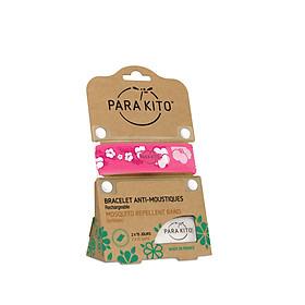 Viên chống muỗi PARA'KITO kèm vòng đeo tay bằng vải  hoa văn anh đào (loại 2 viên) -PGWB05