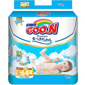 Combo 3 bịch Tã Dán Goo.n Premium Gói Cực Đại Newborn S64 (64 Miếng) - Tặng bóng xúc xắc Munchkin-1