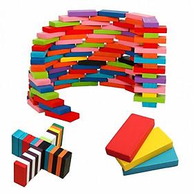 Bộ Đồ Chơi Domino 120 Chi tiết Bằng Gỗ nhiều màu
