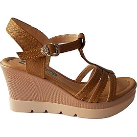 Giày Sandal Nữ Đế Xuồng BIGGBEN Da Bò Thật SDX17
