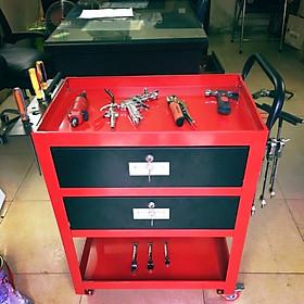 Tủ đồ nghề sửa xe máy 2 ngăn kéo đen