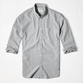 Áo sơ mi nam tay dài cổ tàu vải linen cao cấp trắng phù hợp công sở Nexx & Dee 03