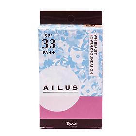 Phấn nền chống nắng sáng da Nhật Bản Naris Ailus WH Beauty Powder Foundation SPF 33 PA++ - Hàng Chính Hãng