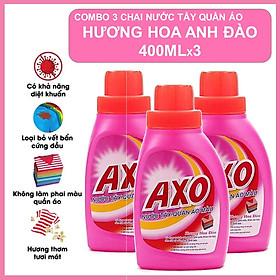 COMBO 3 Nước Tẩy Quần Áo Axo Hương Hoa Anh Đào 400ml X3