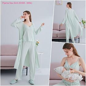 Pijama Bầu Sau Sinh Hàng Đẹp Cao Cấp, Siêu Mềm, Mịn, Mát, Thấm hút mồ hôi cho Mẹ mặc mát mùa hè