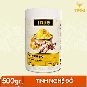 Tinh bột nghệ đỏ TORO Curcumin 500gram - từ Dak Lak - 100% tinh nghệ đỏ - TORO FARM