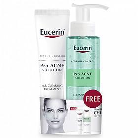 Combo Eucerin PRO Acne AI Clearing Treatment tặng Gel Rửa Mặt Trị Mụn