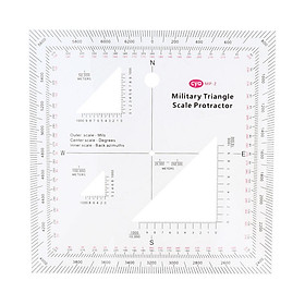 """5""""x5"""" Acrylic GTA Coordinate Scale&Protractor Army Graphic Training Aid"""