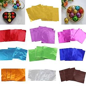 400x Multicolors Lá Bao F Socola Kẹo Ngọt Bánh Kẹo 10X10 Cm