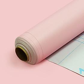 Cuộn 5m Decal Giấy Dán Tường màu hồng nhạt nhám (5m dài x 0.45m rộng)
