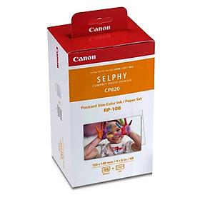 Giấy Và Mực In Ảnh Nhiệt Canon RP108 Cho Máy In Canon SELPHY CP1300, SELPHY CP1200, SELPHY CP1000, SELPHY CP910 - Hàng Chính Hãng