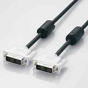 Cáp DVI-D Elecom CAC-DVSL20BK (2m) - Hàng Chính Hãng
