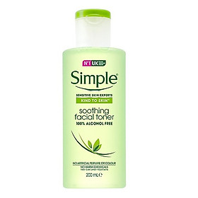 Nước Hoa Hồng Simple Kind To Skin Soothing Facial Toner (200ml) [ Được Mask 3W Clinic ]