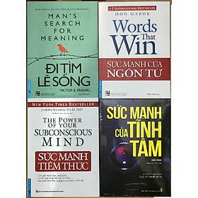 Combo Đi tìm lẽ sống + Sức mạnh của tĩnh tâm + Sức mạnh của ngôn từ + Sức mạnh tiềm thức