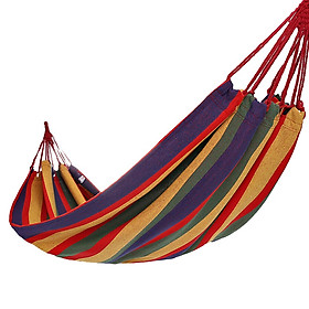 Camel outdoor hammock outdoor camping dormitory park adult rollover hammock swing 8W3ASY011 red color bar (190*80)