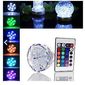 Đèn LED 10 bóng chống nước thả chìm trang trí hồ cá,bể cá,lọ hoa...màu sắc lung linh tự động thay đổi nhiều chế độ