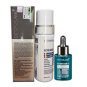Bộ đôi Serum ngừa mụn trắng da Peel Acnes Blanc H Và Mặt nạ sủi bọt thải độc Detox Mask Detox BlanC tận gốc các tình trạng mụn