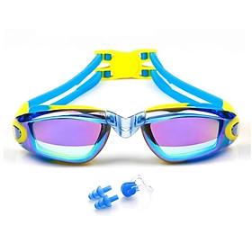 Kính bơi tráng Gương DD34 (Tặng kèm Bịt tai + Kẹp mũi), kính ngăn UV cao cấp - DONGDONG