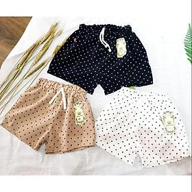 Combo 3 Quần đùi đũi thời trang cho bé gái từ 3-7 tuổi