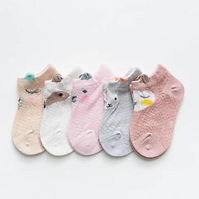 5 Đôi Vớ Tất lưới trẻ em, sơ sinh cho bé gái và bé trai (0-5 tuổi)