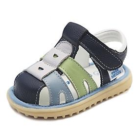 Dép sandal bé trai da mềm quai dán cho bé 6 đến 36 tháng phong cách Hàn Quốc TD40