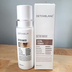 Sữa Rửa Mặt Detox BlanC Thải Độc Sủi Bọt Trắng Da Detox Mask Mẫu mới có tem check + Tặng Kèm hoa tai ngọc trai cưc xinh