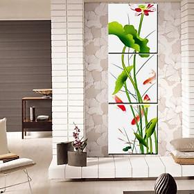Tranh Canvas treo tường nghệ thuật | Bộ 3 bức vuông| HLB_006