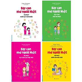 [Download Sách] Combo dạy con như người Nhật( Bộ 4 cuốn)