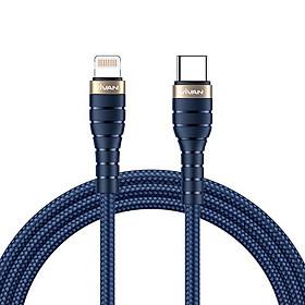 Dây Cáp Chuyển Đổi Lightning Sang USB Type-C – Dây Dài 120cm, Chuẩn Sạc Nhanh PD Công Suất 18W, Dây Bọc Sơi Kevlar Siêu Bền –  HÀNG CHÍNH HÃNG