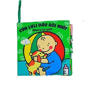 Sách vải Lalal baby kích thích đa giác quan cho bé Luli đâu rồi?- Where is Luli?, kích thước 18x18cm, 12 trang