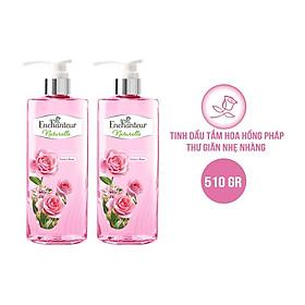 Combo 2 Sữa tắm chứa tinh dầu hoa hồng Enchanteur Naturelle Rose 510gr/Chai