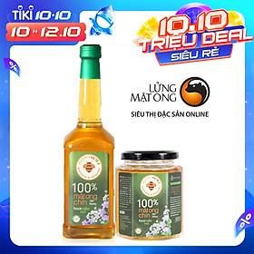 Combo Mật ong rừng Hoa Miền Núi - 100% mật ong chín Honimore 990g