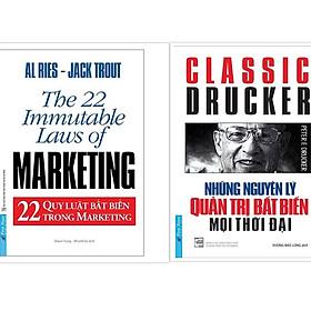 Sách - Combo Những Nguyên Lý Quản Trị Bất Biến Mọi Thời Đại + 22 Quy Luật Bất Biến Trong Marketing - First News