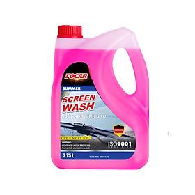 Nước rửa kính ô tô FOCAR SUMMER Screen Wash 2.75L  - Can Nước rửa kính  xe hơi FOCAR màu hồng, chống xước kính, công nghệ BIOTEC-S  loại nước rửa kính đổ liền không cần pha ISO 9001:2015