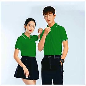 Áo thun nam nữ cổ trụ chất liệu mè thể thao Vải dày mịn Hàn Quốc ATM1