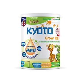 Sữa bột dinh dưỡng Kyoto GROW IQ Thông minh hơn cao lớn hơn, giúp trẻ tăng chiều cao, trí thông minh vượt trội NUTRI PLUS-900G