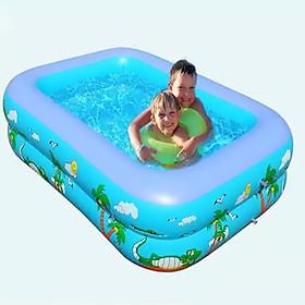 Bể bơi, hồ bơi hình vuông bơm hơi 1m1 2 tầng - PV-YT0002A