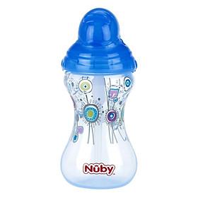Hình đại diện sản phẩm Bình Uống Nước Ống Hút Silicone Nuby 10241 (300ml) - Xanh
