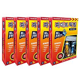 Combo 5 hộp 10 gói bột thông tắc làm sạch đường ống Hàn Quốc (100g/gói)