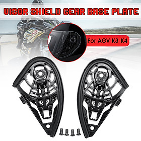 Motorcycle Helmet Visor Shield Gear Base Plate Set For AGV K1 K3SV K5 / K3 K4  (K3 K4)
