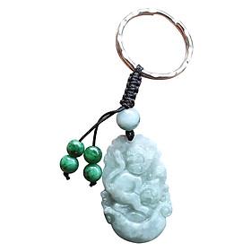 Móc Khóa 12 Con Giáp Đá Cẩm Thạch Tuổi Thân Ngọc Quý Gemstones MK19