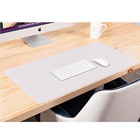 Bàn di chuột, miếng lót chuột 120 X 60 CM kiêm deskpad thảm da trải bàn làm việc hai mặt chống nước