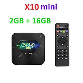 Android TV Box X10 Mini, RAM 2G Và Bộ Nhớ Trong 16G ,Chipset Allwinner H313 , Media Player 2.4G WIFI Xử Lí Nhanh Hơn.